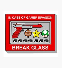 In case of Gamer Invasion Photographic Print