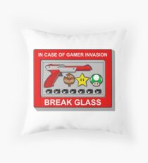 In case of Gamer Invasion Throw Pillow