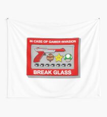 In case of Gamer Invasion Wall Tapestry