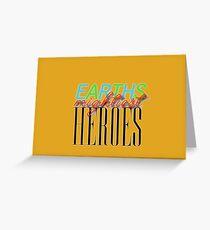 Earths Mightiest Heroes Greeting Card
