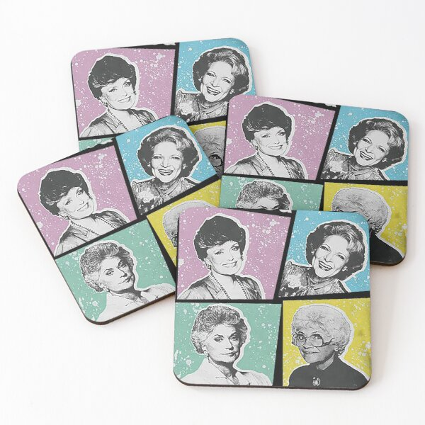 Thank You For Being A Friend Golden Girls Funny Coasters (Set of 4)