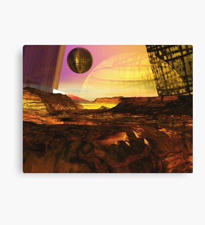 Alien Landscape #1 Canvas Print