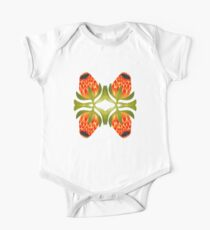Floral symmetry One Piece - Short Sleeve