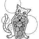 Kitty's Yarn Stash: Memento Mori by LeftHandedLenya