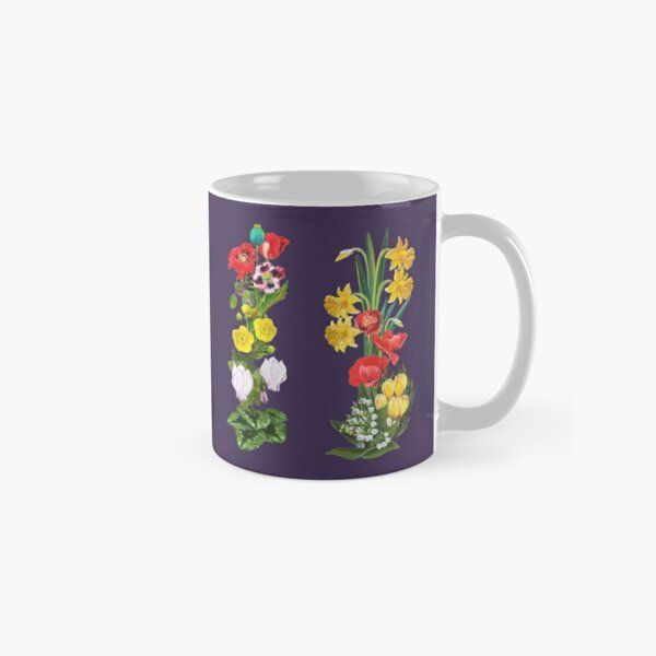 FLORAL ~ Folkart Cottage Garden for Zipped Hoodies by tasmanianartist 07012021 Classic Mug