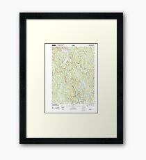 USGS TOPO Map Connecticut CT Norfolk 20120521 TM Framed Print