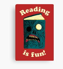 Reading is Fun Canvas Print
