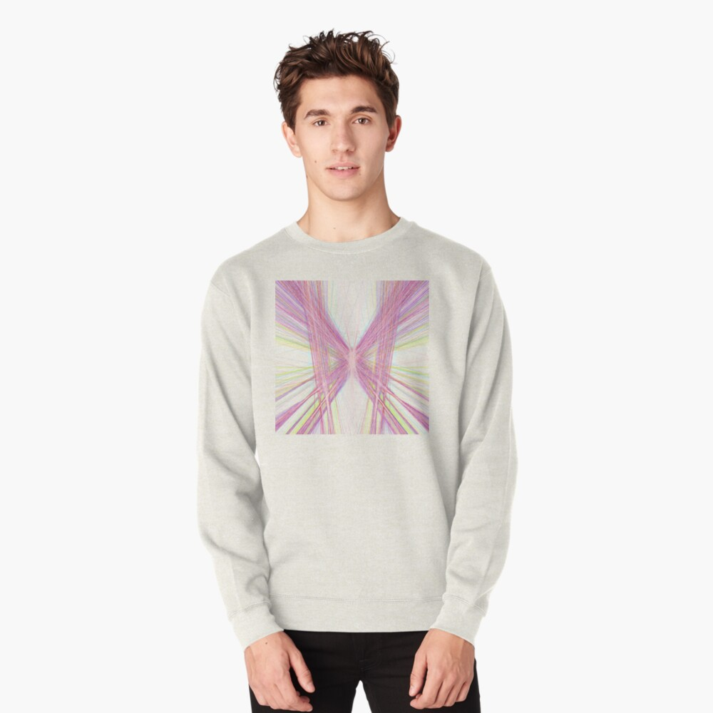 Linify Pink butterfly Pullover Sweatshirt
