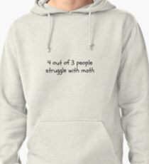 Math Quote Pullover Hoodie