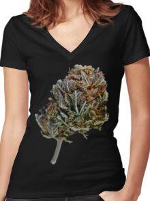 Black Domina Women's Fitted V-Neck T-Shirt