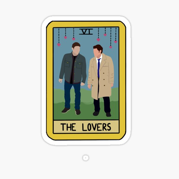 Destiel The Lovers Tarotkarte Sticker