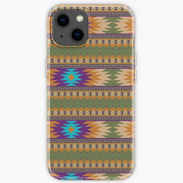 ethnic, ikat, pattern, floral, batik, carpet, design, motif, texture, african, boho, embroidery, abstract, iPhone Soft Case