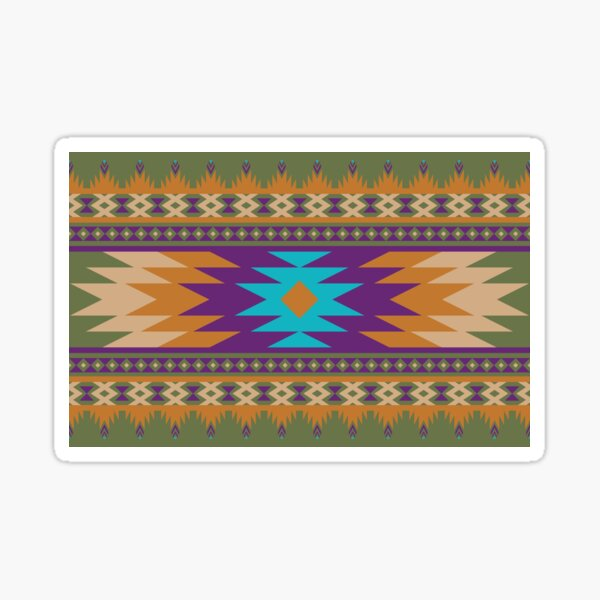 ethnic, ikat, pattern, floral, batik, carpet, design, motif, texture, african, boho, embroidery, abstract, Sticker