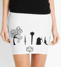 Minifalda Papel Crítico - Símbolos de Carácter
