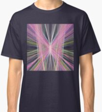 Linify Pink butterfly on dark background Classic T-Shirt
