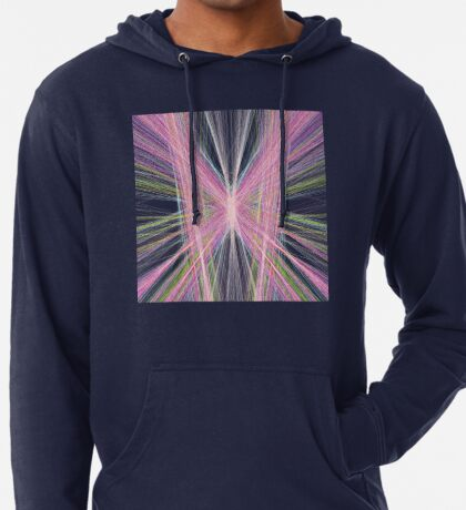 Linify Pink butterfly on dark background Lightweight Hoodie