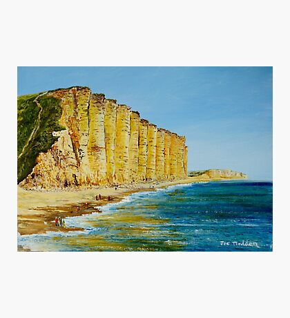 A walk on West Bay, Dorset. Photographic Print