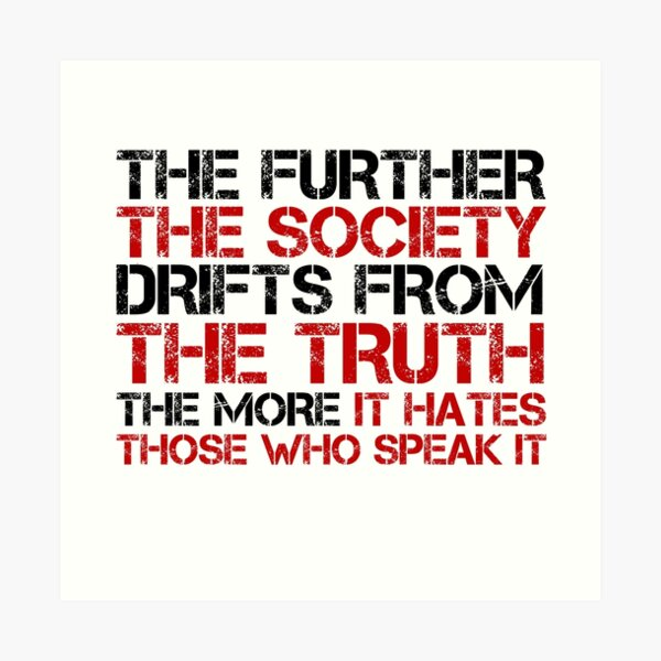 George Orwell Quote Free Speech Truth Political Art Print