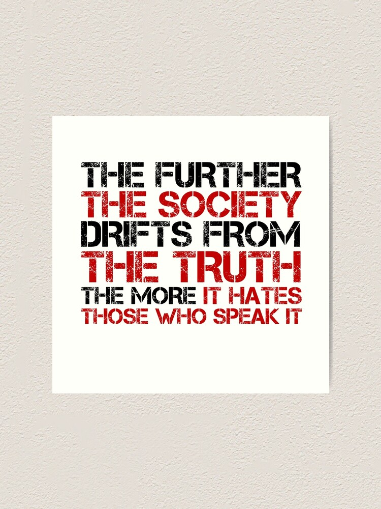 Alternate view of George Orwell Quote Free Speech Truth Political Art Print