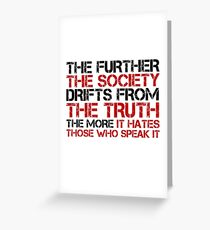 George Orwell Quote Free Speech Truth Political Greeting Card