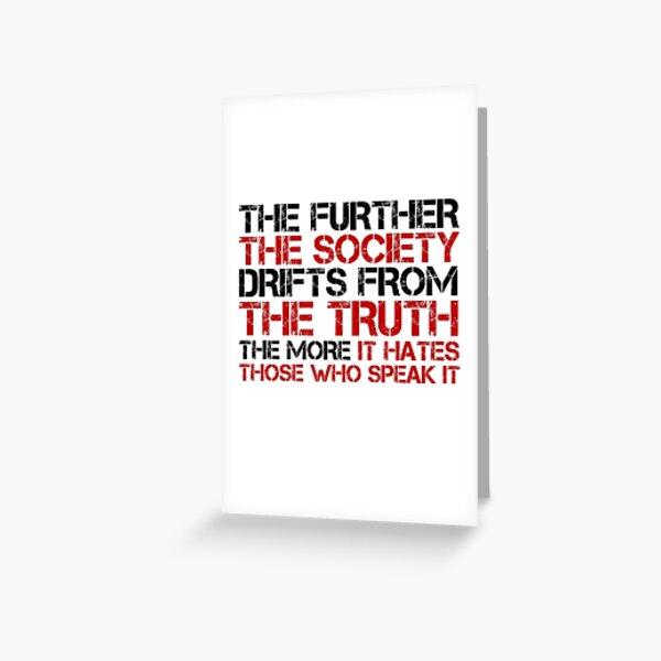 George Orwell cite Free Speech Truth Politique Carte de vœux