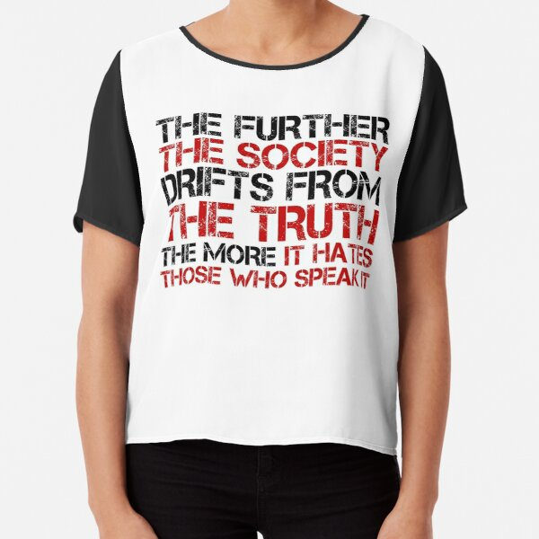 George Orwell Quote Free Speech Truth Political Chiffon Top