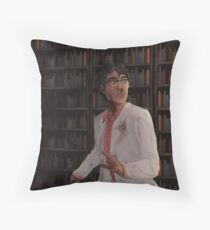 WTNV - Carlos and the Library Throw Pillow