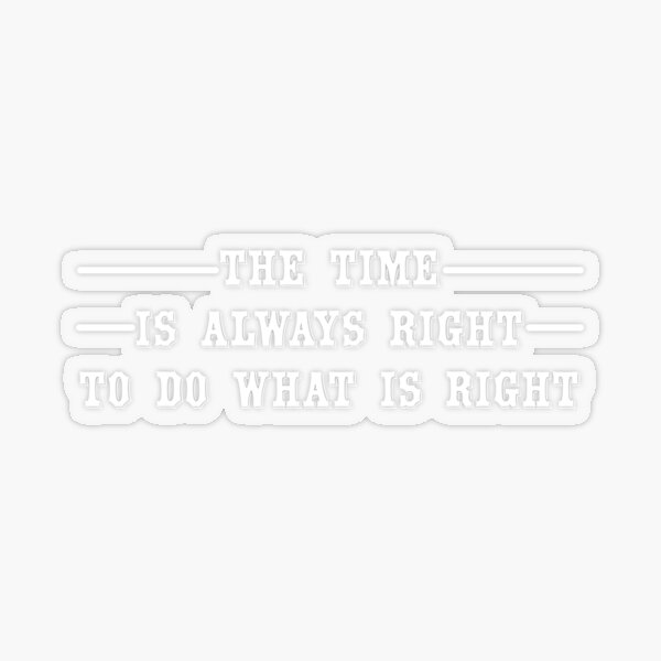 Quotes By Martin Luther King Jr Transparent Sticker