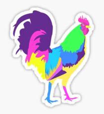 Psychedelic Chicken Sticker