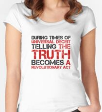George Orwell Quote Truth Freedom Free Speech Women's Fitted Scoop T-Shirt