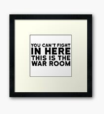 Dr. Strangelove Quote Movie Stanley Kubrick Funny Framed Print