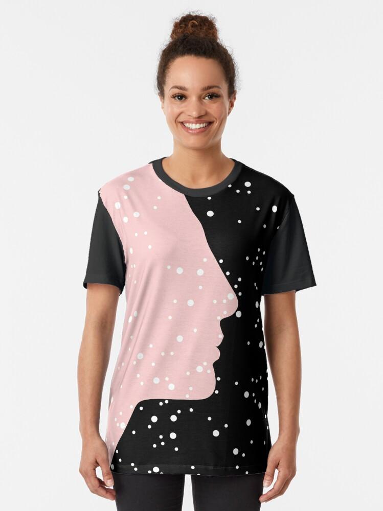 Alternate view of MC Nefertiti Black Graphic T-Shirt