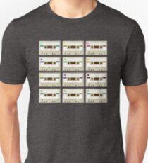 Retro Cassette Tape Print T-Shirt