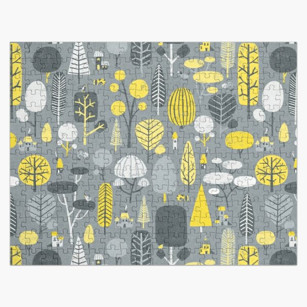 Yellow and gray trees Jigsaw Puzzle