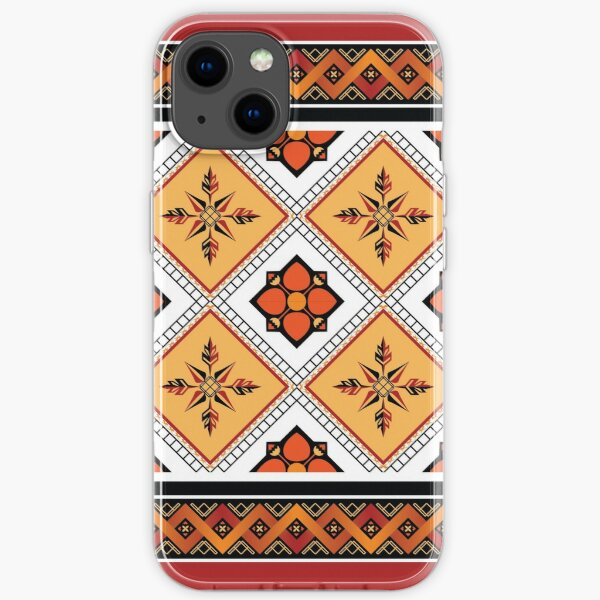 Geometric ethnic pattern traditional Design for background,carpet,wallpaper,clothing,wrapping,Batik,fabric,sarong,Vector illustration embroidery style. iPhone Soft Case