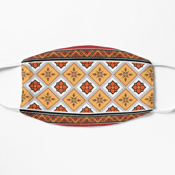 Geometric ethnic pattern traditional Design for background,carpet,wallpaper,clothing,wrapping,Batik,fabric,sarong,Vector illustration embroidery style. Flat Mask