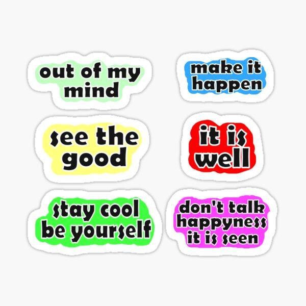 Lustige Sätze kolorierte Packung Sticker