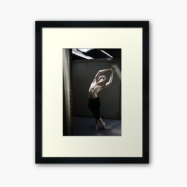 Male dancer Framed Art Print