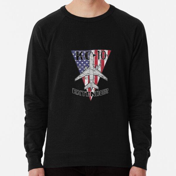 KC-10 Extender Military Tanker Airplane Patriotic Vintage Lightweight Sweatshirt