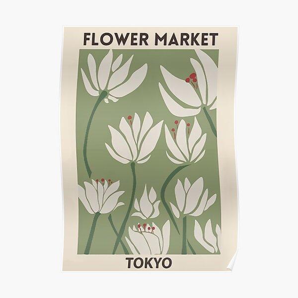 Mercado de flores Póster