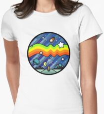 Biker in the universe Women's Fitted T-Shirt