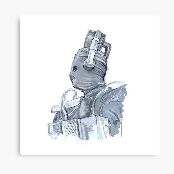 The Original Cyberman Illustration Canvas Print