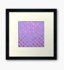 Teal Pink Faux Foil Yin Yang Metallic Tao Balance Chinese Taoism Symbol  Background Texture Pattern Framed Print