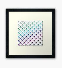 Rainbow Faux Foil Metallic Yin Yang Tao Balance Chinese Taoism Symbol  Background Texture Pattern Framed Print