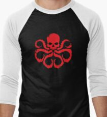 HYDRA Badge - Red Men's Baseball ¾ T-Shirt