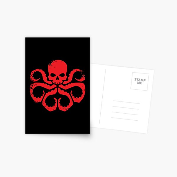 HYDRA Badge - Red Postcard