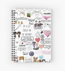 Dan and Phil sticker collage.  Spiral Notebook