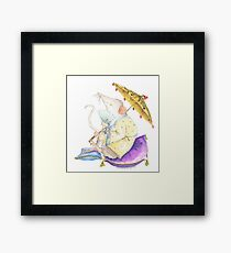 Stu the Meditating Sewer Rat  Framed Print