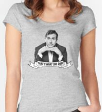 "Michael Scott - ""That's What She Said"" Women's Fitted Scoop T-Shirt"