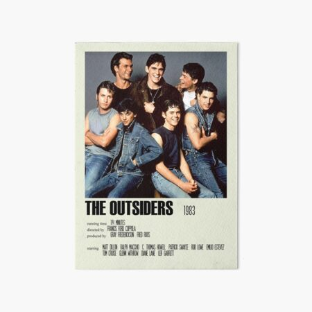 The Outsiders Alternative Poster Art Movie Large (4) Art Board Print